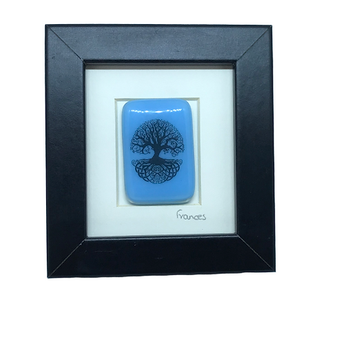 Framed glass pieces by Ballybrick