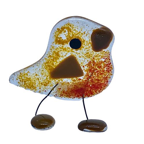 Standing glass bird by Ballybrick