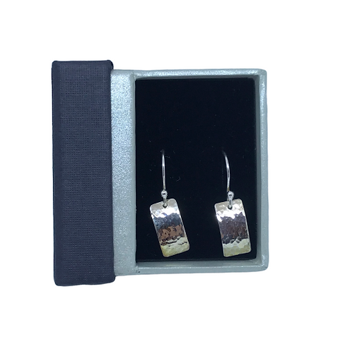Stirling Silver Rectangle Earrings by SimplyN