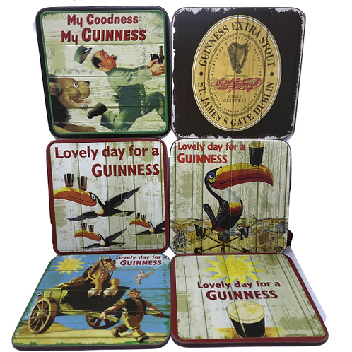 Guinness coasters- set of 6