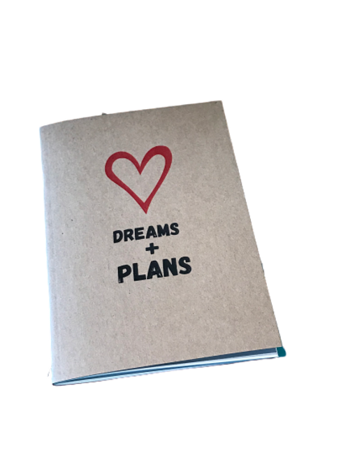 Dreams and Plans notebook- A6 lined paged
