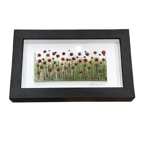 Framed Floral Ceramic Art by Mount Ida Pottery