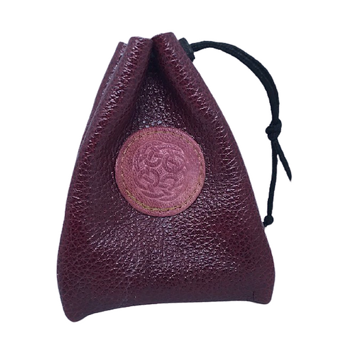 Handmade leather coin pouch