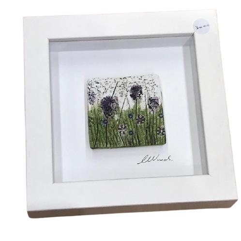Framed Ceramic Flower design- Mt Ida