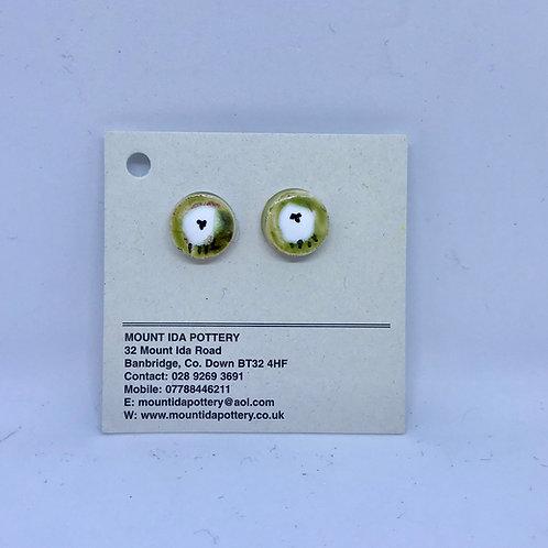 Pottery sheep earrings from Mount Ida