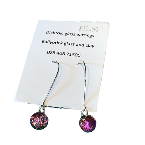 Dichoric glass earrings by Ballybrick