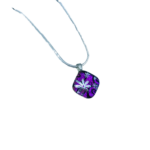 Dichroic glass pendant necklace by Ballybrick