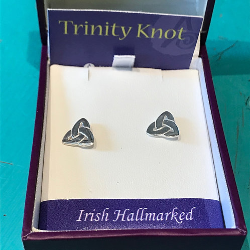 Trinity Knot Stirling Silver Earrings