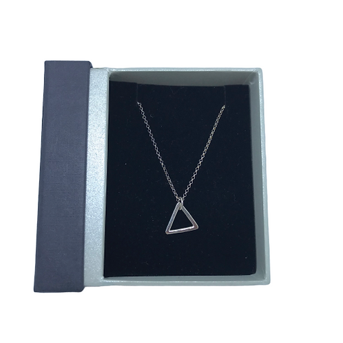 Stirling Silver handcrafted triangle pendant