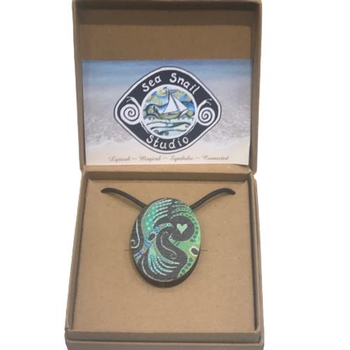 Wearable Art Pendant by SeaSnail Studio