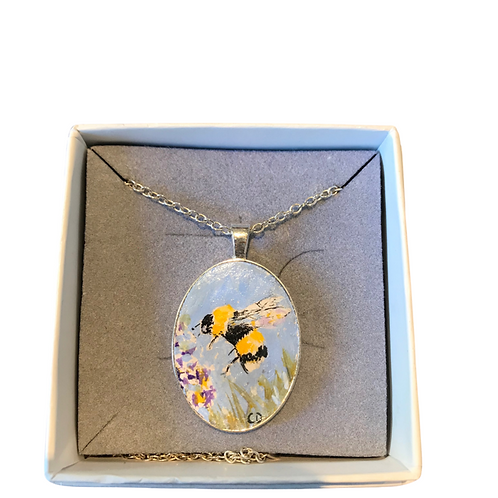 Handpainted wearable art necklace