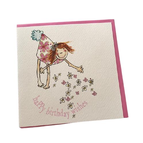 Big Leap Birthday Card- Girl