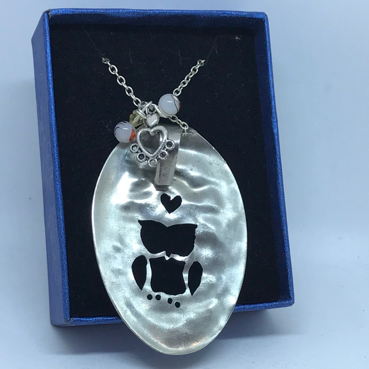 Owl necklace made from spoon