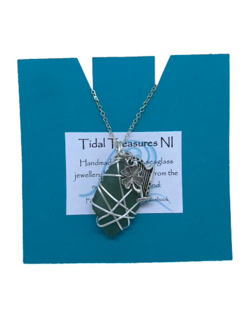 Tidal Treasures Seaglass Necklace with Charms