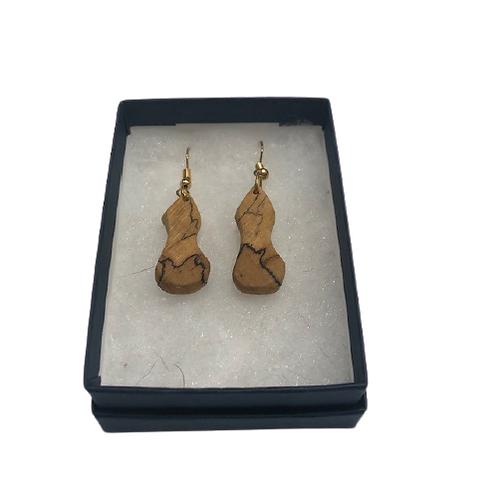 Earrings - spalted beech