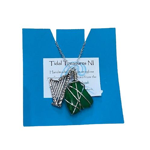 Tidal Treasures Shamrock Seaglass Necklace