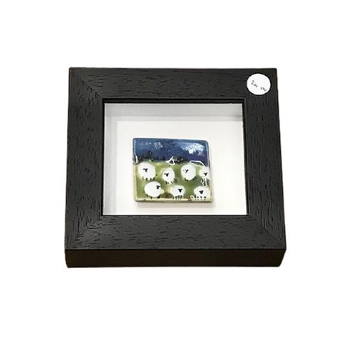 Mount Ida framed sheep pottery- small