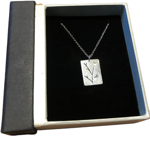 Stirling Silver branch pendant by SimplyN