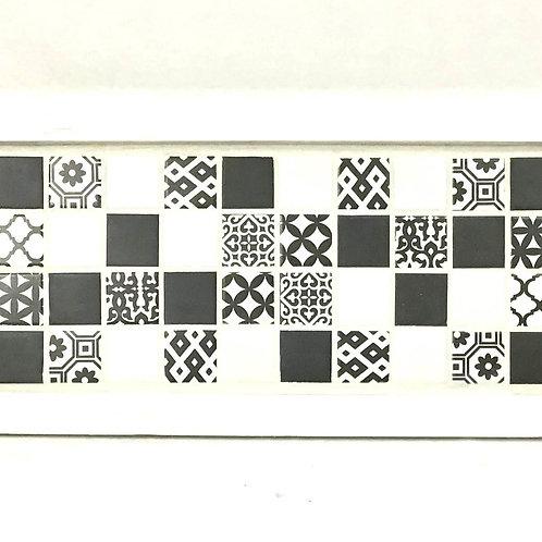 Boho Black Mosaic Tray