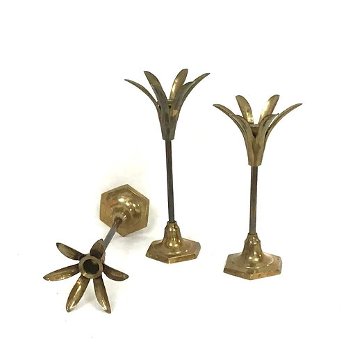 Brass Candlestick with Petal