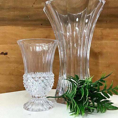 Diamond Cut Crystal Vase