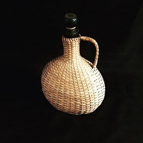 Almaden Wicker Wrapped Collectors Wine Bottle