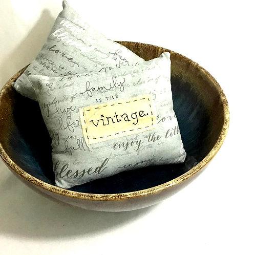 Handstitched Vintage Pillow