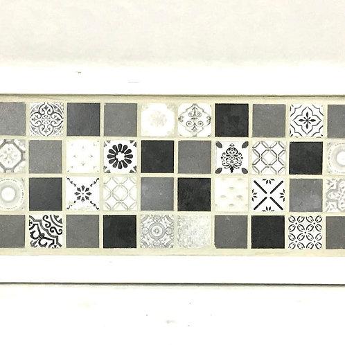 Folk Gray Mosaic Tray