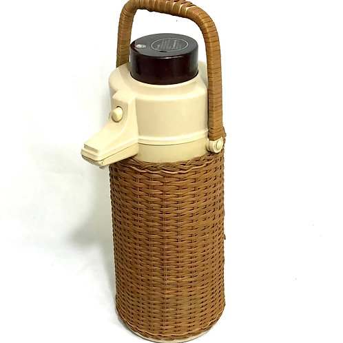 MCM Rattan Beverage Dispenser