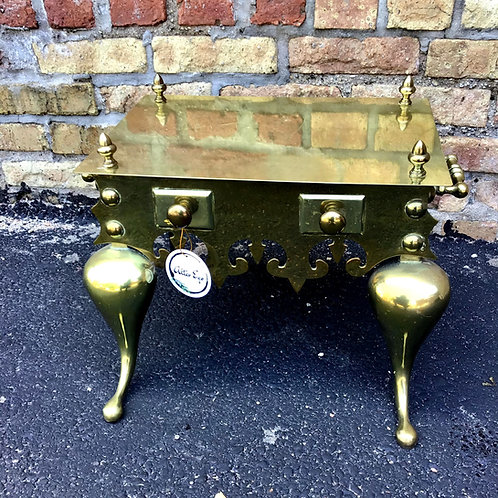 Brass Footman Stool Low Table Trivet