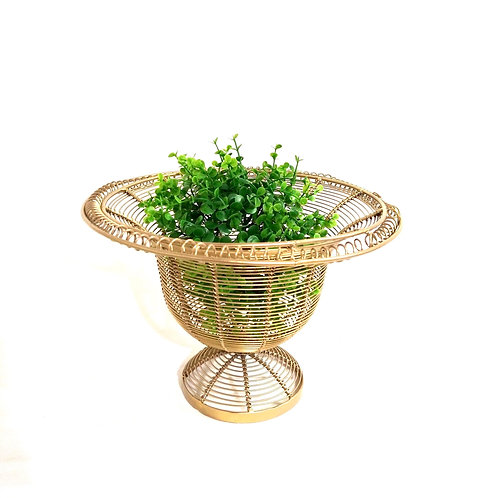 Gold Farmhouse Wire Basket