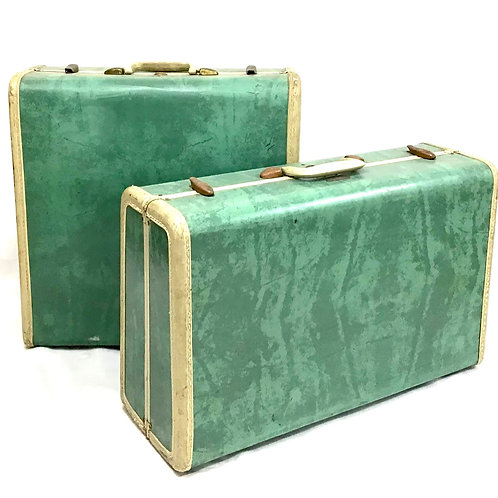 Green Samsonite Suitcase