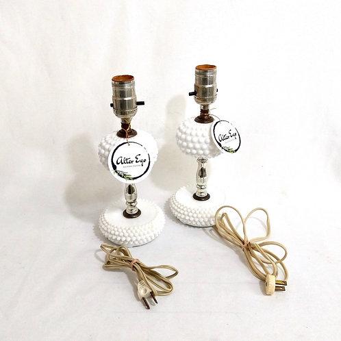 Milk Glass Hobnail Lamp