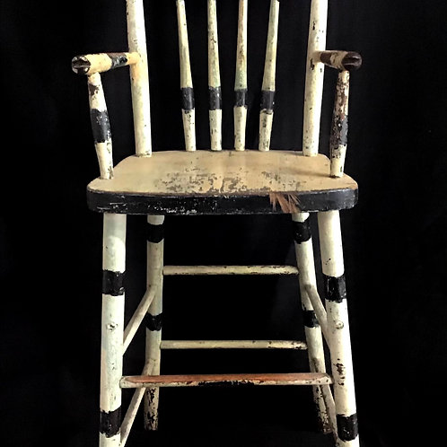 Chippy White and Black Child's High Chair