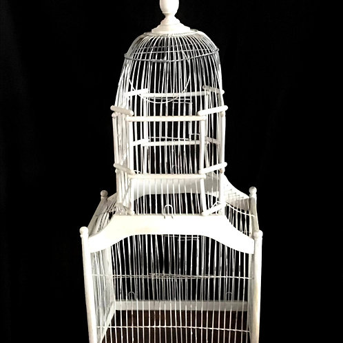 Dome Style Rustic White Birdcage