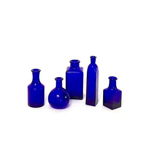 Blue Apothecary Bottle Set
