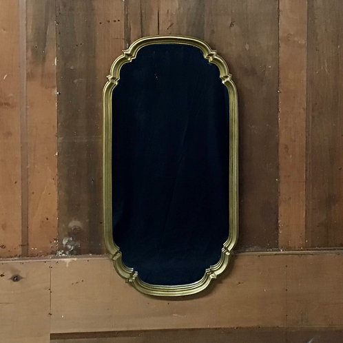Gold Mirror with Scalloped Edge