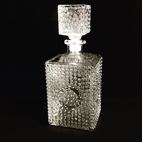 Hobnail Glass Decanter
