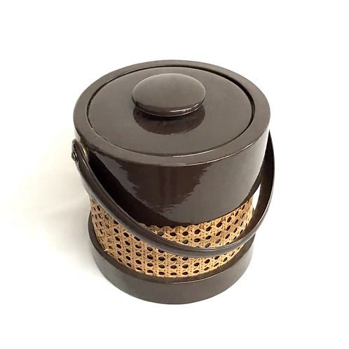 MCM Ice Bucket with Rattan Detail