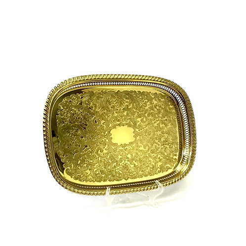 Gold Plate Serving Tray