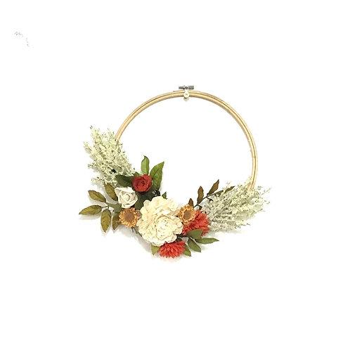 Needlepoint Hoop Wreath - Indian Summer (Small, round)