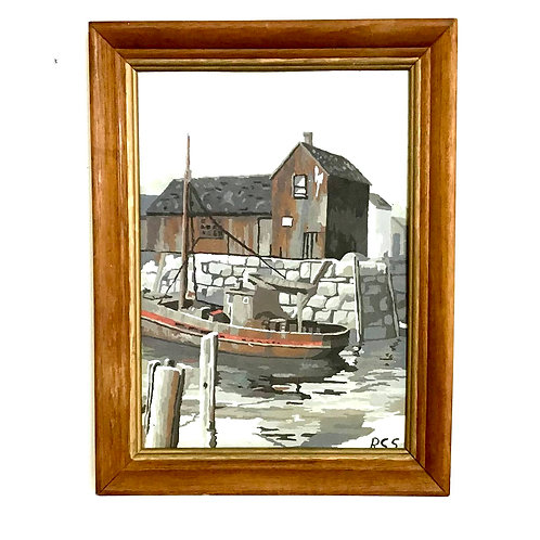 Paint By Number Mill and Logger Boat