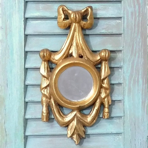 Gold Bow and Drape Accent Mirror