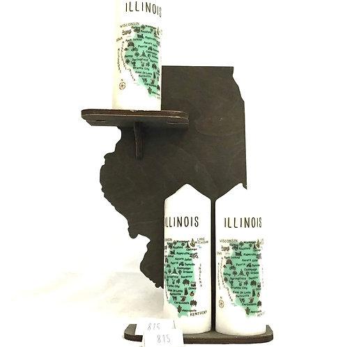Illinois Pillar Candle