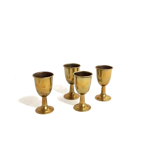 Brass Cordial Set