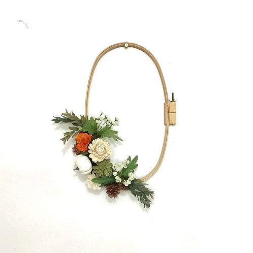 Needlepoint Hoop Wreath - Indian Summer (Oval)