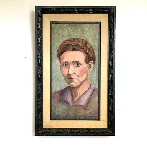 Portrait of a Woman Signed by E. Flak