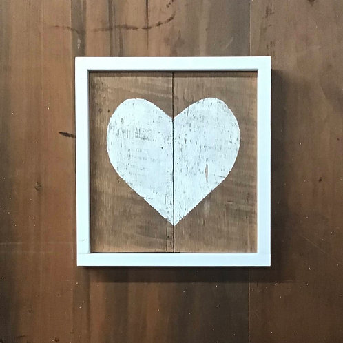 Handcrafted Heart Wall Art - 2 Plank