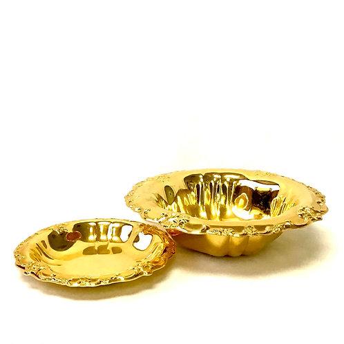 Gold Plate Bowl Set