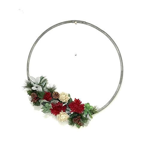 Wine Barrel Wreath - Valentine's Day